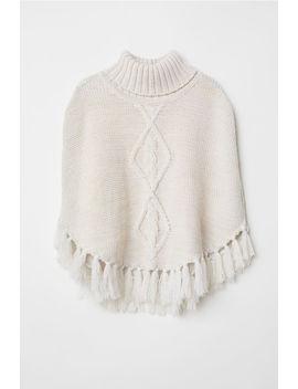 Knit Poncho by H&M