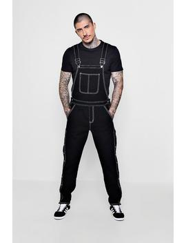 Slim Fit Denim Worker Dungarees by Boohoo