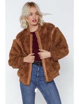Bear Hugs Only Bomber Jacket by Nasty Gal