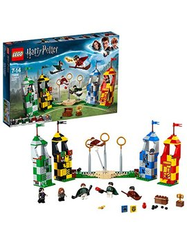 Lego 75956 Harry Potter Quidditch Match Building Set, Gryffindor Slytherin Ravenclaw And Hufflepuff Towers, Harry Potter Toy Gifts by Lego