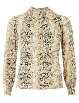 Petite Snake Print High Neck Top by Dorothy Perkins