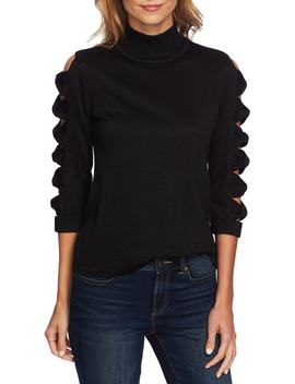 Bow Sleeve Turtleneck by Cece