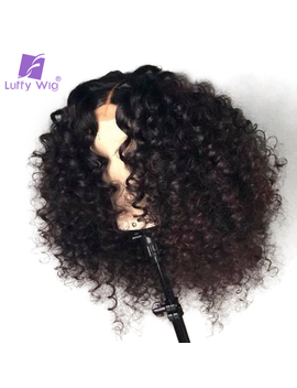 Luffy Glueless Pre Plucked Full Lace Curly Human Hair Wigs With Baby Hair Malaysian Non Remy Hair Bleached Knots For Women by Luffy