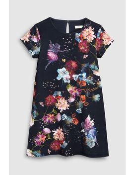 Navy Floral Fairy Dress (3 16yrs) by Next