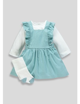Girls Cord Pinafore Set (Newborn 18mths) by Matalan