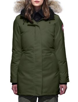 Victoria Fusion Fit Down Parka With Genuine Coyote Fur Trim by Canada Goose