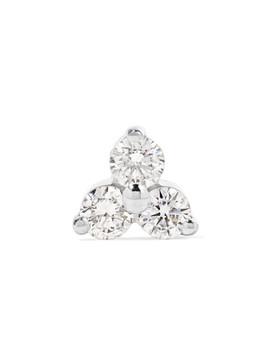 Trinity 18 Karat White Gold Diamond Earring by Maria Tash