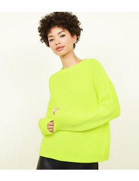 Yellow Neon Slouchy Jumper by New Look