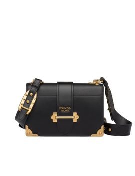 Prada Cahier Large Leather Bag by Prada