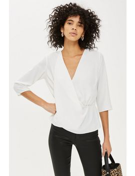 Drape Panel Detail Blouse by Topshop