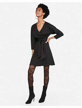 Surplice Tie Front Shift Dress by Express