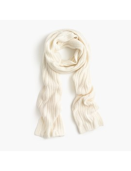 Ribbed Cable Knit Scarf In Everyday Cashmere by J.Crew