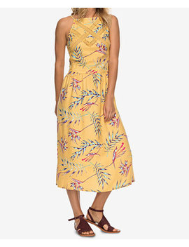 Juniors' Printed Lace Inset Midi Dress by Roxy