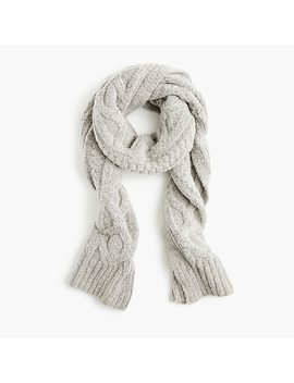 Loopy Stitch Oversized Cableknit Scarf by J.Crew