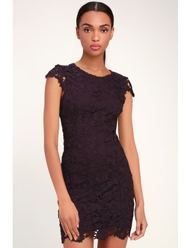 romance-language-dark-purple-backless-lace-dress by lulus