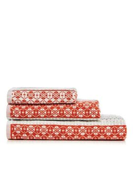 Home Collection   Orange 'hygge' Jacquard Towel by Home Collection