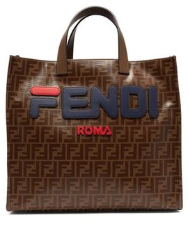 Mania Logo Appliqué Tote Bag by Fendi