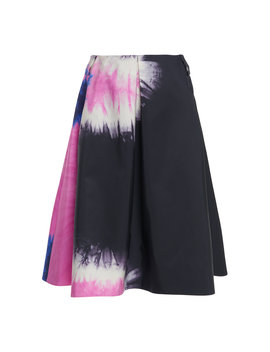 Tie Dye Pleated Silk Skirt by Prada