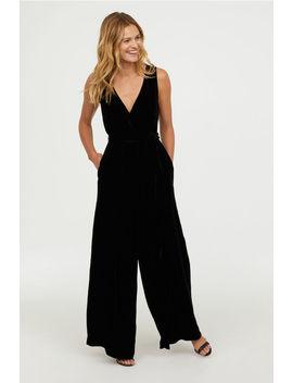 Silk Blend Jumpsuit by H&M