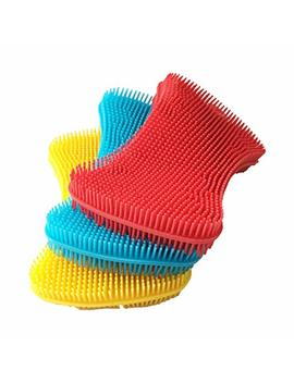 Silicone Sponge Dish Washing Kitchen Scrubber   Magic Food Grade Antibacterial Dishes Multipurpose Better Sponges Non Stick Cleaning Mildew Free Smart Kitchen Gadgets Brush Accessories by A Kop