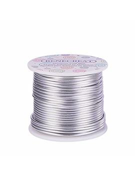 Benecreat 12 17 18 Guage Aluminum Wire (12 Gauge,100 Ft) Anodized Jewelry Craft Making Beading Floral Colored Aluminum Craft Wire   Silver by Benecreat
