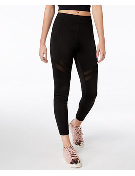 Juniors' Mesh Inset Leggings, Created For Macy's by Material Girl