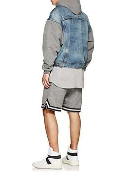 Striped Cotton Blend French Terry Shorts by Fear Of God