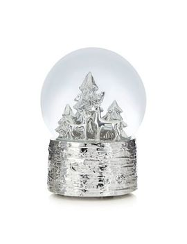 Debenhams   Silver Reindeer Snow Globe by Debenhams