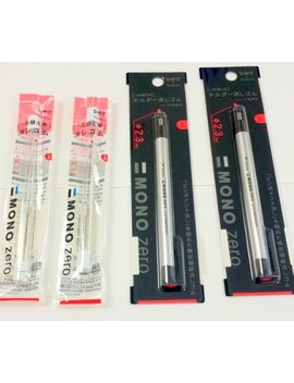 Value Pack Of 2 Tombow Mono Zero Erasers & 4 Refills by Tombow Mono