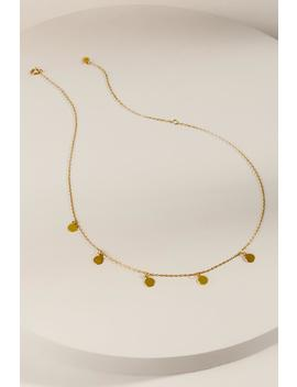 Desiree Mini Coin Drop Choker by Francesca's