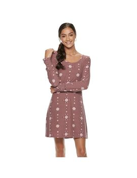 Juniors' Mudd® Lace Up Sleeve Sueded Jersey Dress by Juniors' Mudd