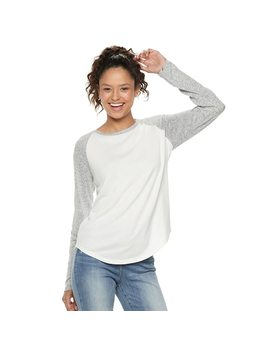 Juniors' So® Long Sleeve Baseball Tee by Juniors' So