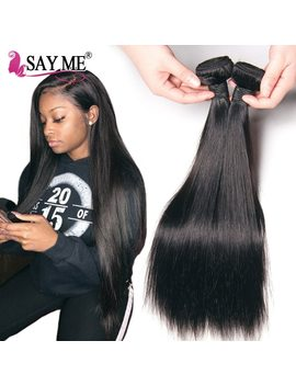 Brazilian Straight Hair Weave Bundles 100 Percents Human Hair Bundles Remy Say Me Hair Extensions Can Buy 1 / 3 / 4 Bundles Deals 1 B# by Say Me