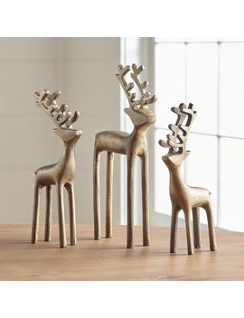 Brass Reindeer by Crate&Barrel