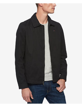 Men's Lightweight Full Zip Micro Twill Jacket by Tommy Hilfiger