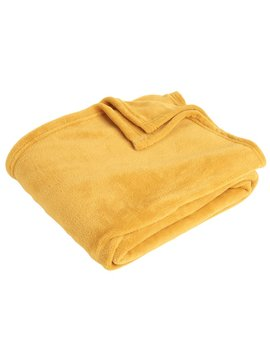 Wilko Ultrasoft Throw Mustard 120 X1 50cm Wilko Ultrasoft Throw Mustard 120 X1 50cm by Wilko