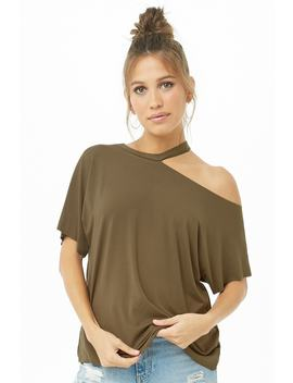 Raw Cut One Shoulder Tee by Forever 21