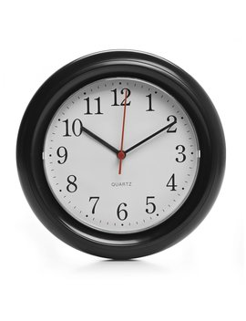Wilko Round Wall Clock Black Wilko Round Wall Clock Black by Wilko