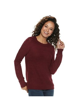 Juniors' So® Lace Up Sleeve Sweater by Juniors' So