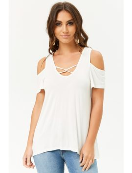 Caged High Low Swing Top by Forever 21