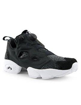 Reebok Womens Instapump Fury Gallery Running Shoe Black White (7) by Reebok