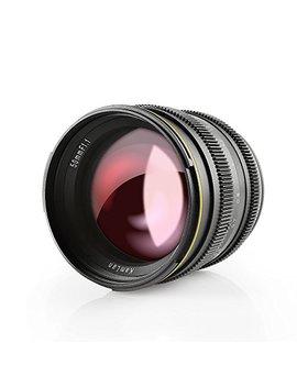 Kamlan 50mm F1.1 Aps C Large Aperture Manual Focus Lens, Standard Prime Lens For Sony E Mount Mirrorless Camera, Alpha Series And Nex Series by Kamlan