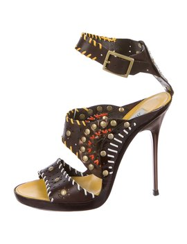 Leather Studded Sandals by Jimmy Choo