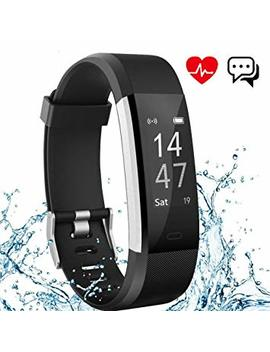 Fitness Tracker Aneken Ip 67 Waterproof Smart Bracelet Heart Rate Monitor Activity Health Tracker Fitness Wristband Pedometer Sleep Monitor Smart Watch I Phone Android Smart Phones Black by Amazon
