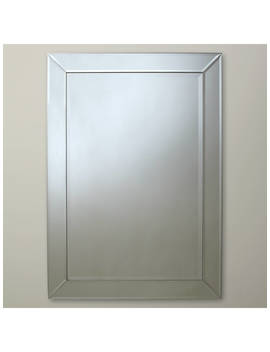 John Lewis & Partners Bevel Simple Mirror, Clear by John Lewis & Partners