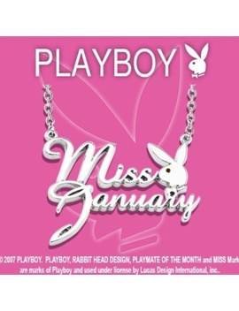 Playboy Necklace Miss January Silver Plated Bunny   Boutique by Playboy