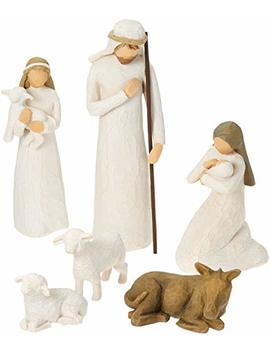 Willow Tree Hand Painted Sculpted Figures, Nativity, 6 Piece Set by Willow Tree