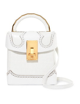 Great L Alice Croc Effect Leather Shoulder Bag by The Volon