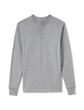 Men's Long Sleeve Super T Henley by Lands' End