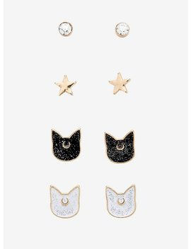Sailor Moon Luna & Artemis Earring Set by Hot Topic
